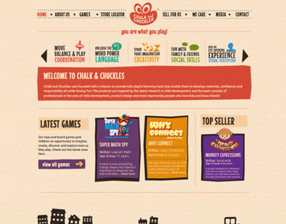 Chalk & Chuckles - Website Design