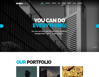 Barrci - One Page WordPress theme