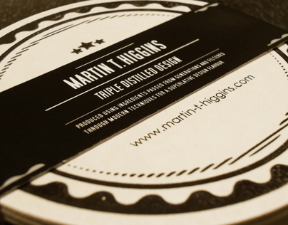 Self-promotional Letterpressed coasters & Tin