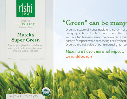 Ad Campaign-Eco-friendly Box Green Tea Line