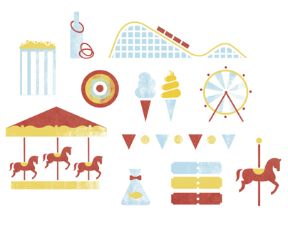 Amusement Park Icon set