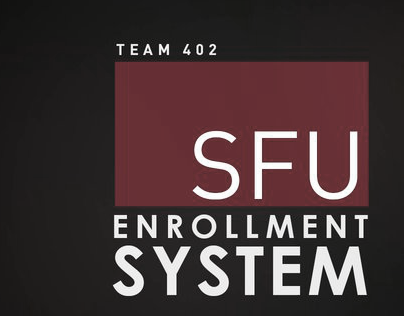 SFU Student Information System Redesign Proposal