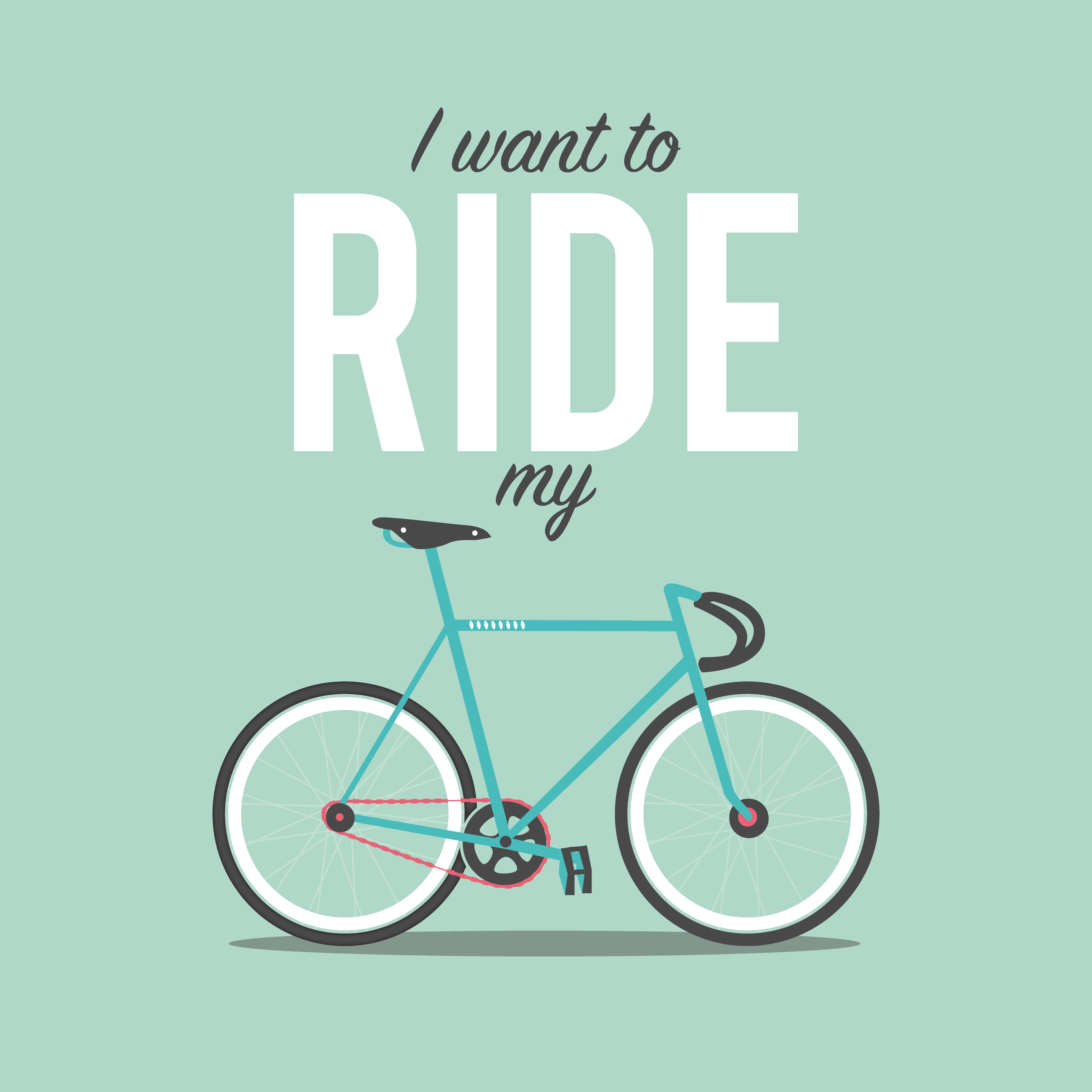 I want to Ride my Bicycle - A2 Poster