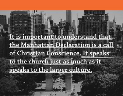 Manhattan Declaration UI/Visual Design