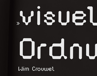 Fontdesign referred to Wim Crouwel