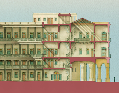 Restoration of Hotel Via Blanca in Havana, Cuba