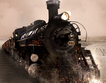 Ghost Train - Photo Manipulation