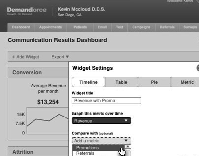 DemandForce Results Page Redesign