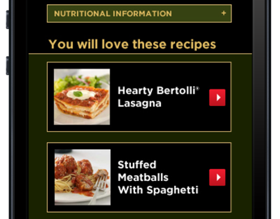 Bertollli Mobile Website
