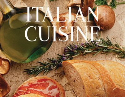 Italian Cuisine Book Design