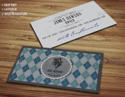 Classy Retro Logo and Business Card
