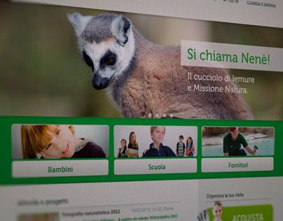 Website Concept - Fondazione Bioparco di Roma