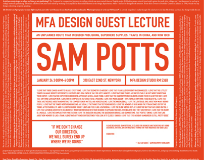 Sam Potts Lecture Poster