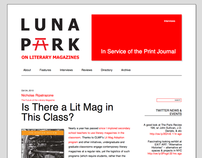 Luna Park website and logo design
