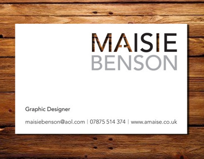 I AM MAISIE – Business Card