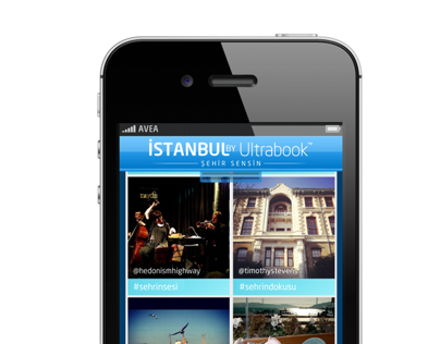 İSTANBUL BY Ultrabook iPhone App Interface Design