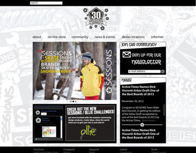 SESSIONS 30th Anniversary Website Mockup