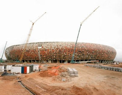 Facade for Soccer City Stadium Johannesburg | ZA