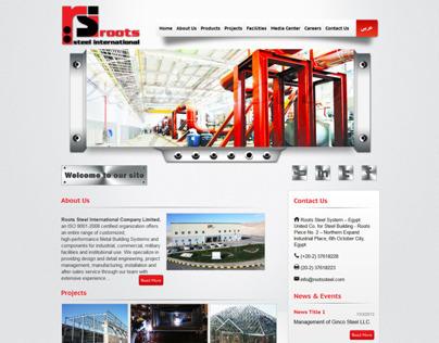 Root Steel Web site design