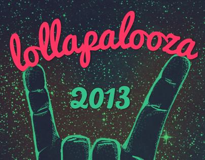 Pôster Concurso Lollapalooza Brasil 2013
