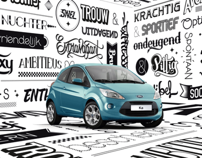 Ford Ka - Typography