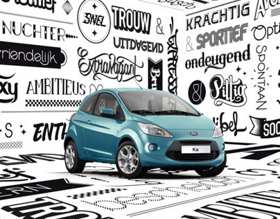 Ford Ka - Typography