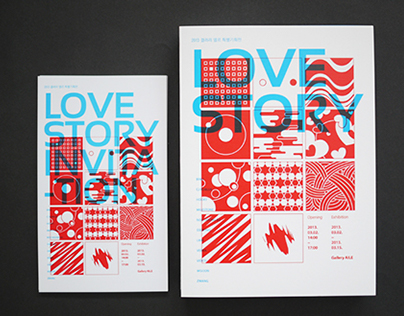 LOVE STORY exhibition / Leaflet & Invitation design