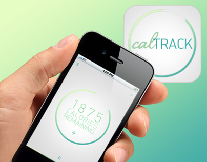 calTRACK - App UI Design + Logo and branding.