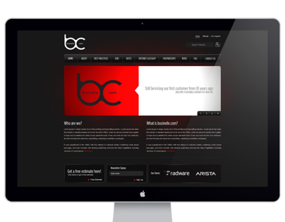 Dark Webdesign for Businelle