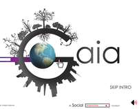 [ SAVING GAIA ] Flash Interactive Web