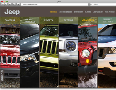 Jeep Website Redesign & Jee Challenge App Design