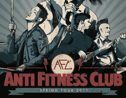 anti fitness club | spring tour 13