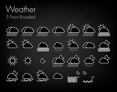 Flat UI Weather Icons