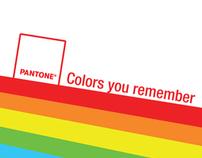 Pantone. Colors you remember.