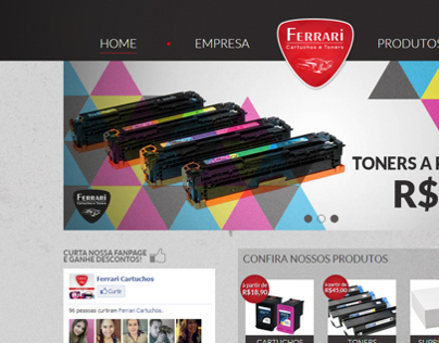 website Ferrari Cartuchos e Toners