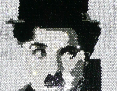 Charlie Chaplin Swarovski Elements Crystal Art