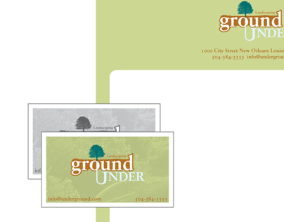 UnderGround Landscaping, Corporate Identity and Brandin