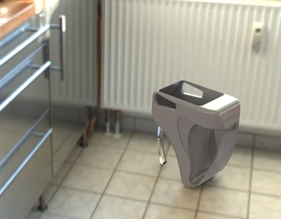 3D Design of Freeflies Symbiosis Dustbin