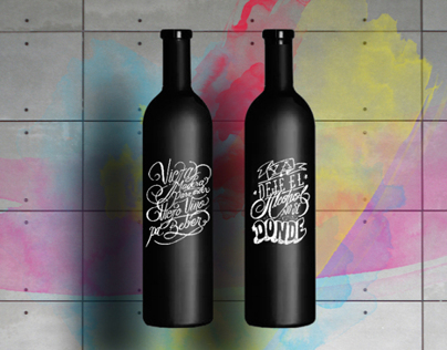 Chalk creative wine.
