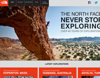 The North Face Microsite
