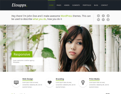 Eloupps, Premium WordPress Multi-Purpose Corporate Them