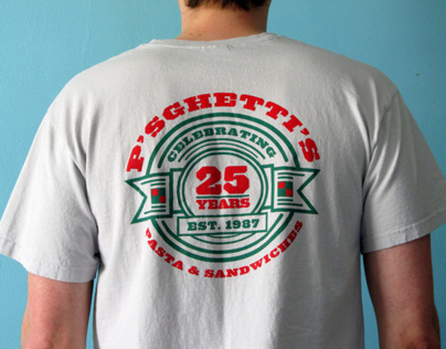 Psghettis 25th Anniversary T-shirt