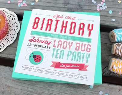Ladybug Tea Party Invites