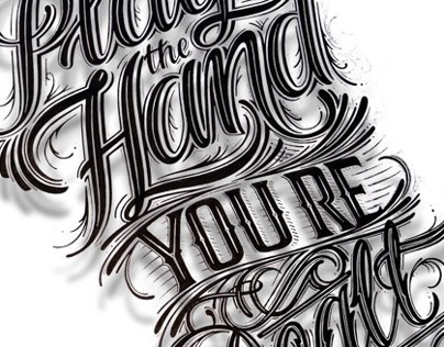 Play the Hand Youre Dealt - Hand Lettering for tshirt