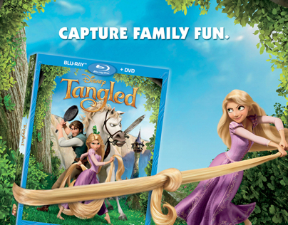 Tangled: Home Entertainment Print Ad