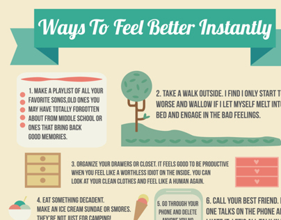 Ways To Feel Better, Infographics