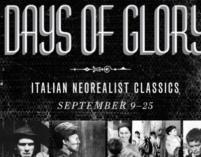 Days of Glory, Italian Neorealism Poster for MFAH Films