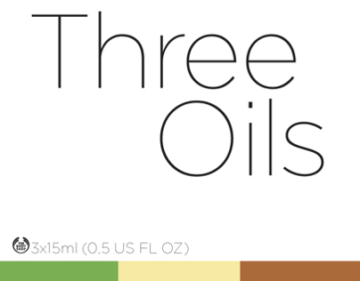 Three Oils packaging design