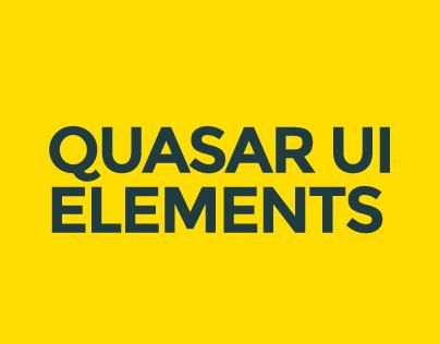 Quasar UI Elements