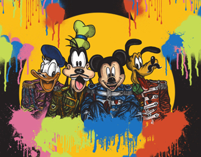 Threadless X mickey mouse and friends